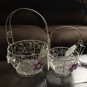 (#WEBNR2) TWO WIRE NESTING EASTER BASKETS